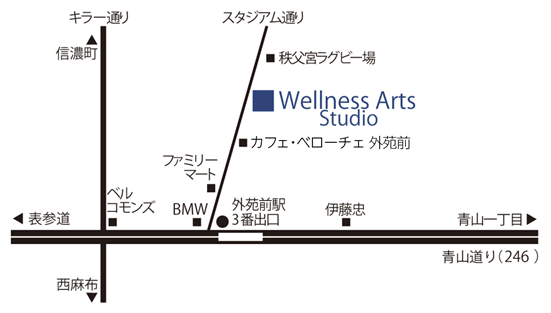 ウェルネスアーツ スタジオ 地図